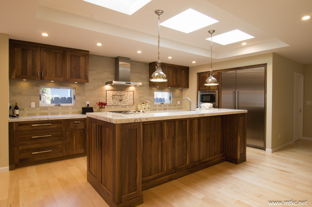 Cabinetry made of walnut