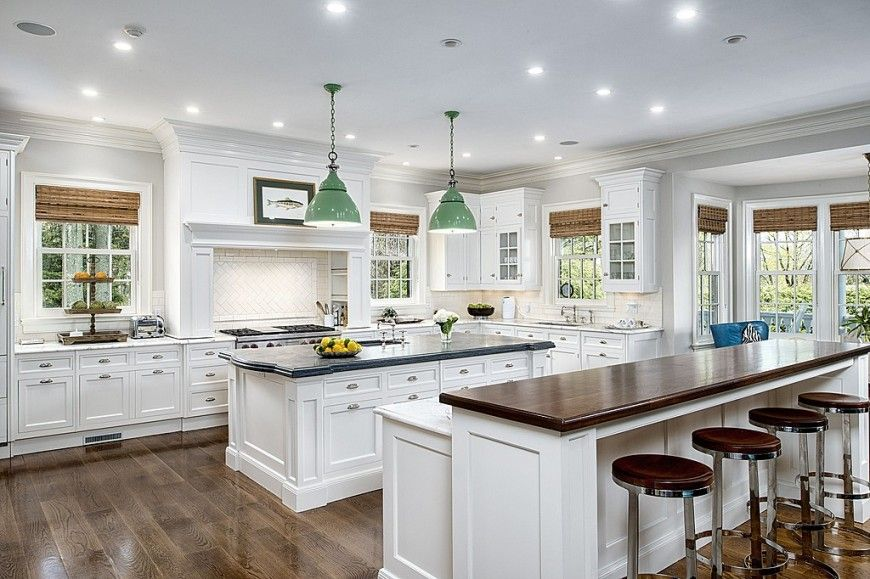 Double-Layout Kitchen Islands